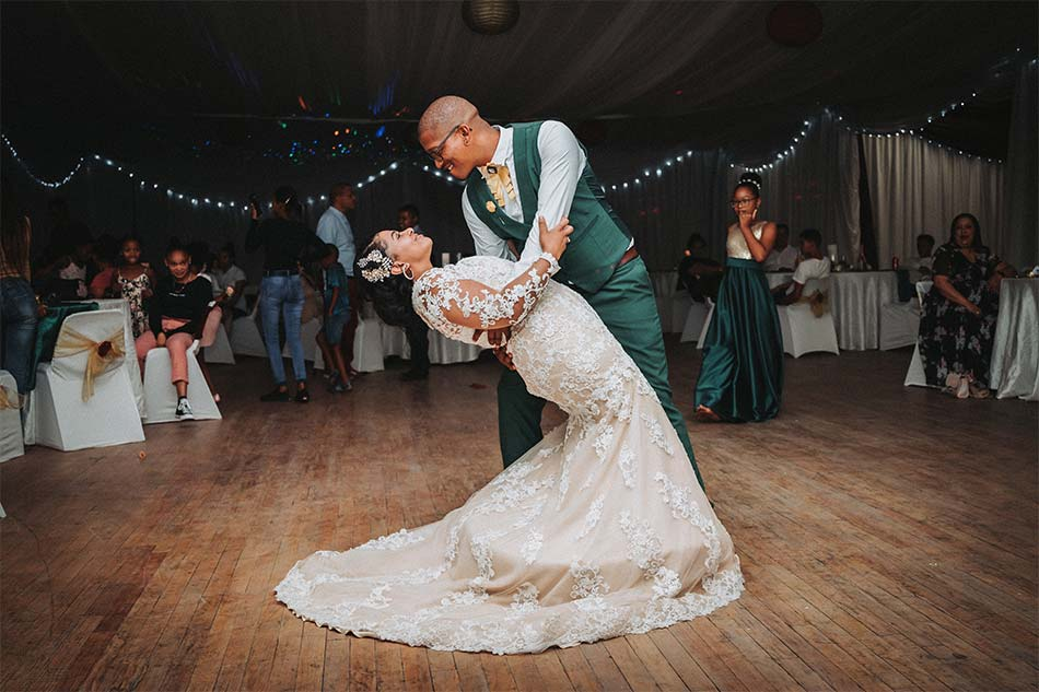 a couple dancing in his wedding