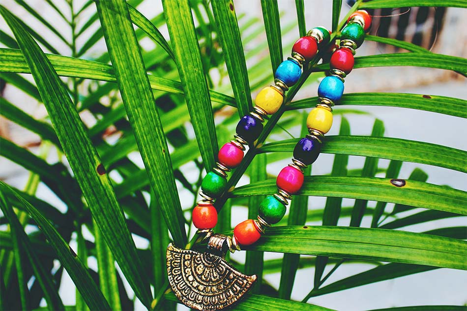 exotic pendant of colors