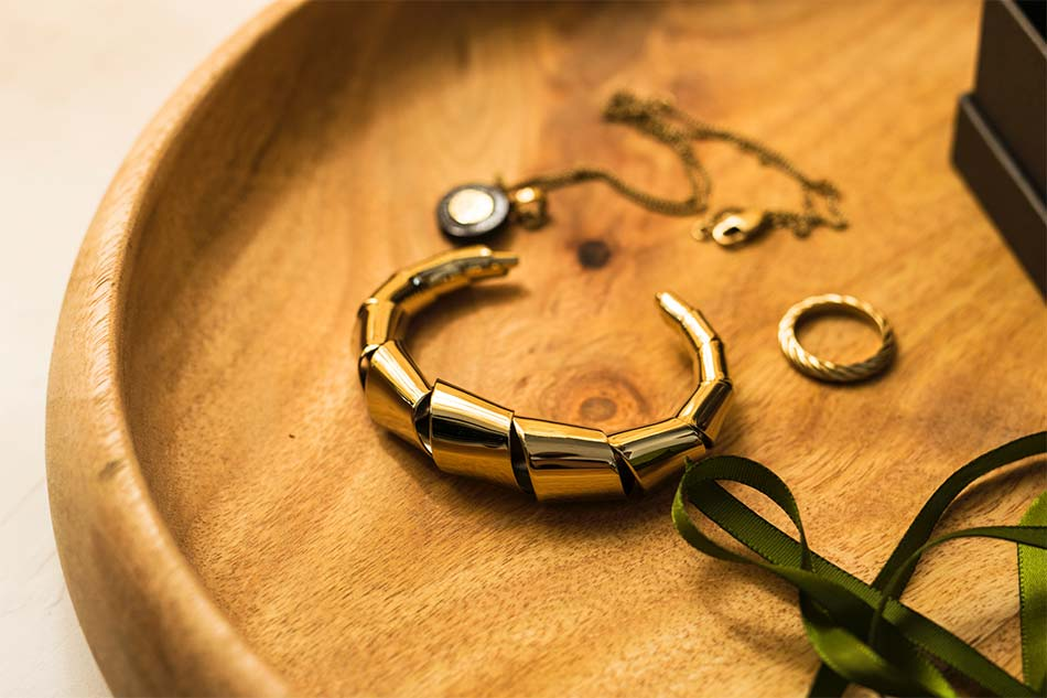golden bracelet with other jewels