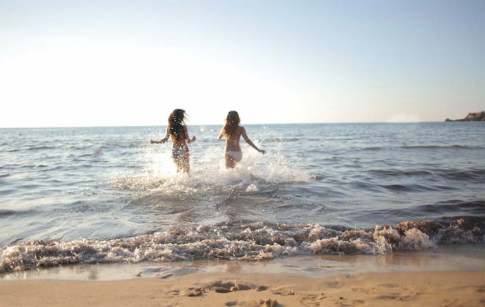 two girls on the beach