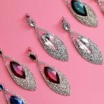 earrings with precious stones