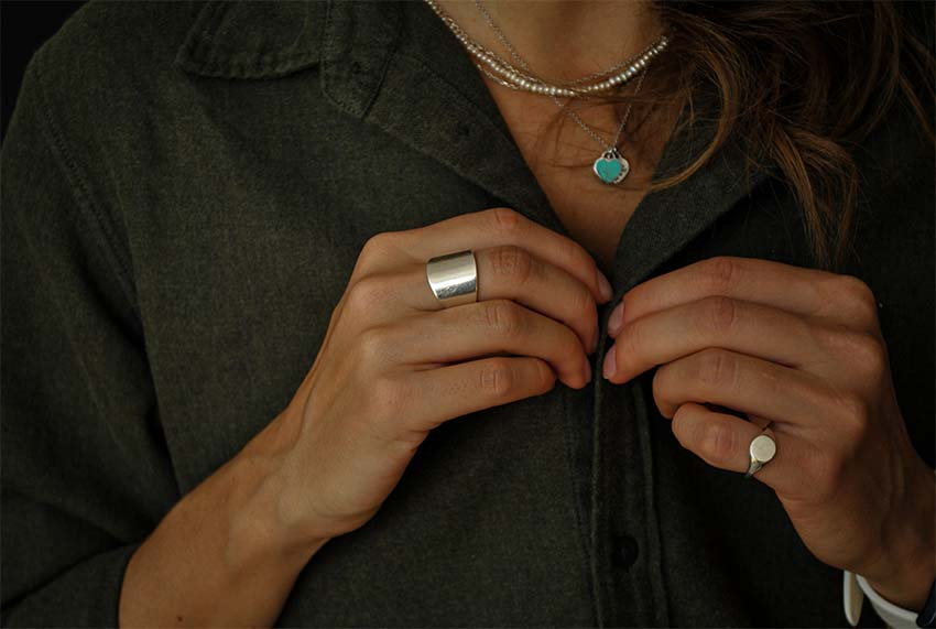 woman with rings