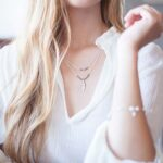 blonde girl with jewels
