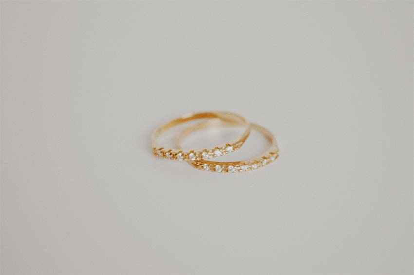 gold rings with diamonds